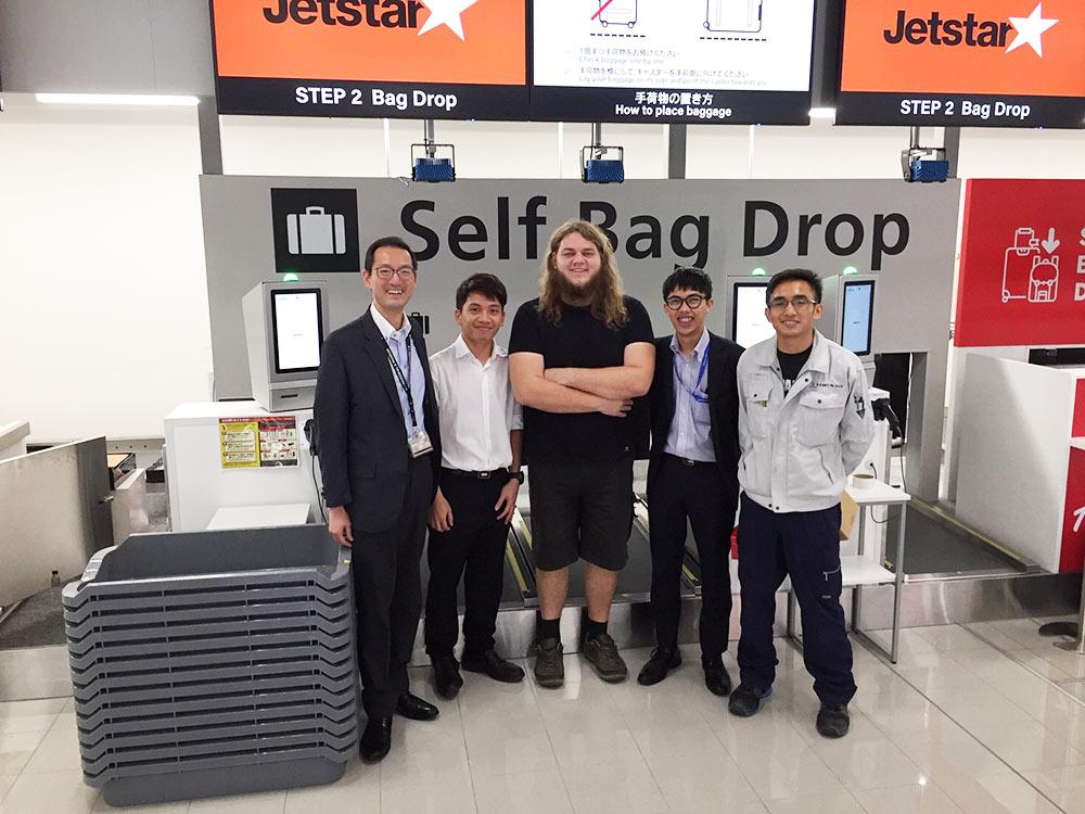 Team photo at Chubu Centrair International Airport.